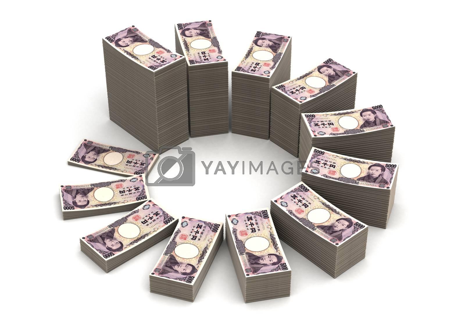 Royalty free image of Japanese Yen Chart by selensergen