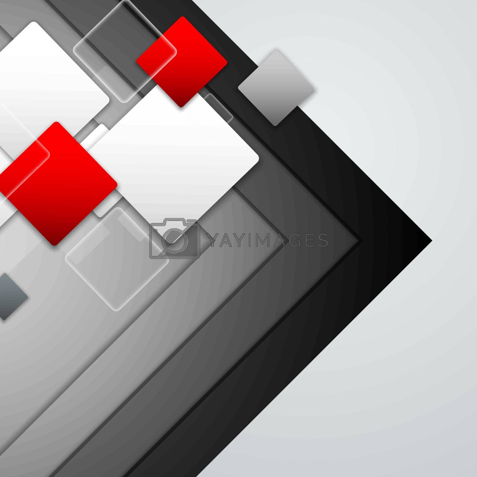 Royalty free image of Vector Overlapping Squares Background by marivlada