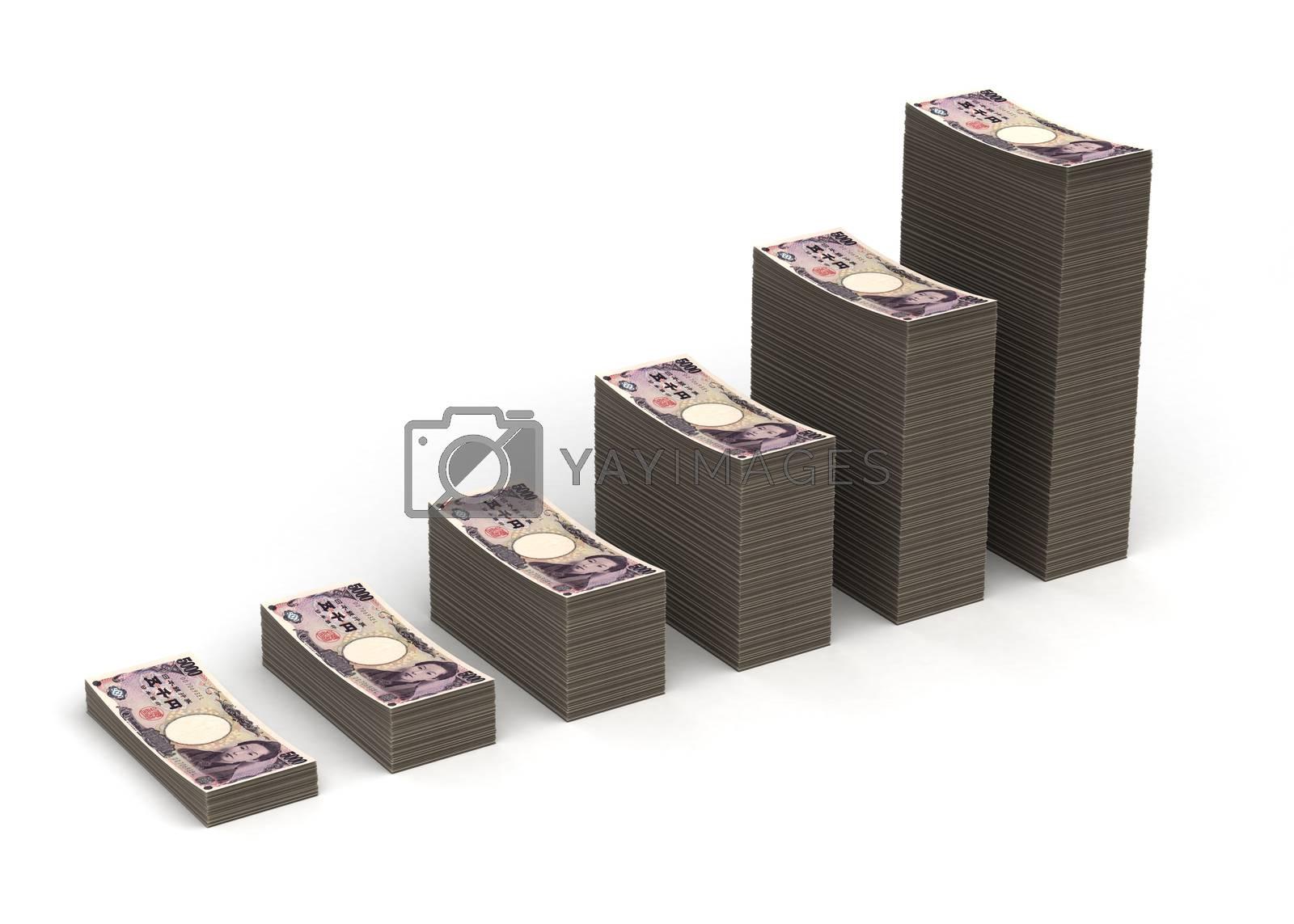 Royalty free image of Japanese Yen Graph by selensergen