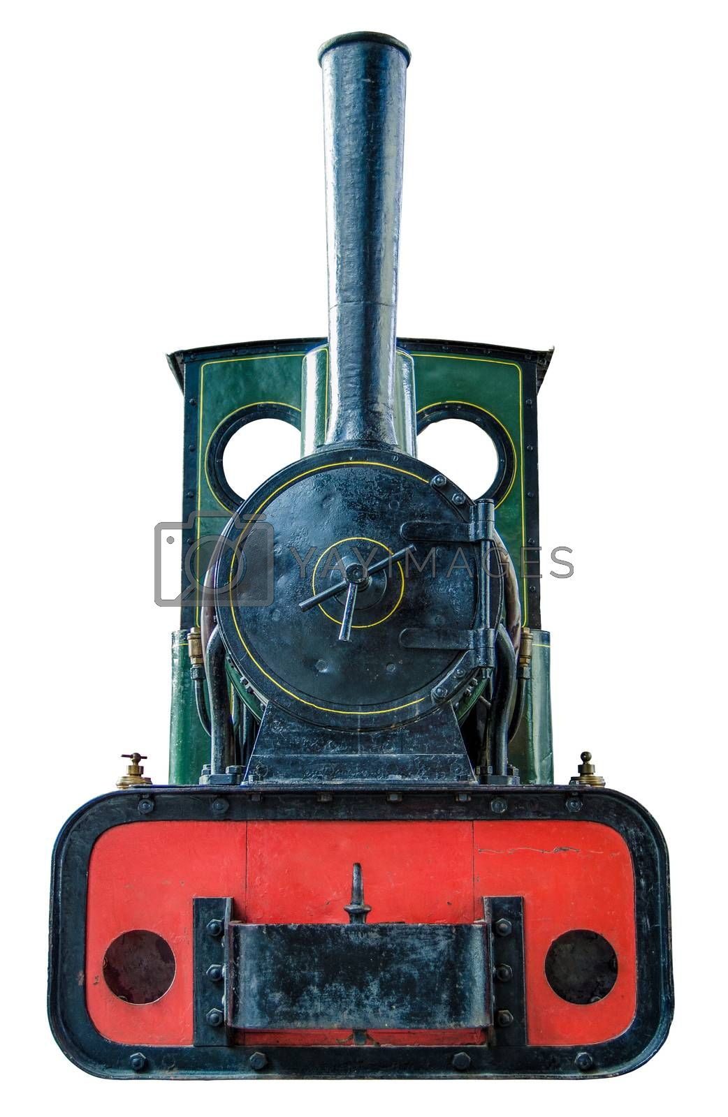 Royalty free image of Isolated Small Steam Engine by mrdoomits