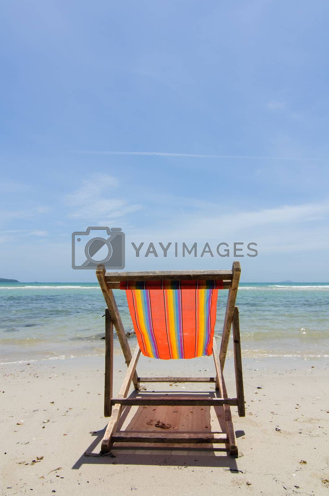 Royalty free image of The beach with a chair by Sorapop