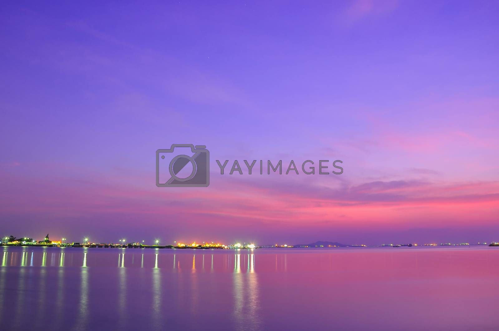 Royalty free image of Sunset at Thailand by Sorapop