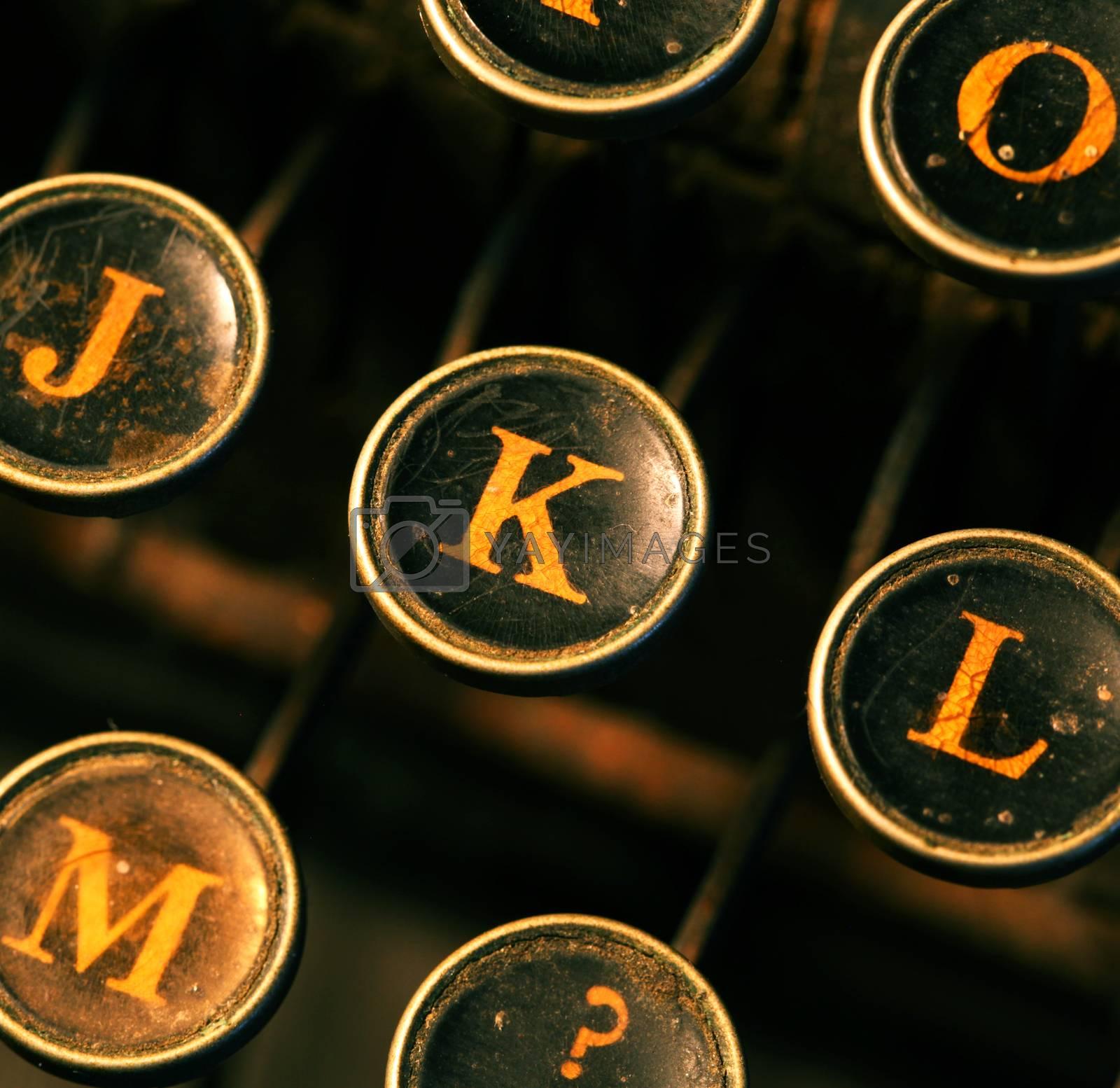 Royalty free image of Old typewriter by janaka