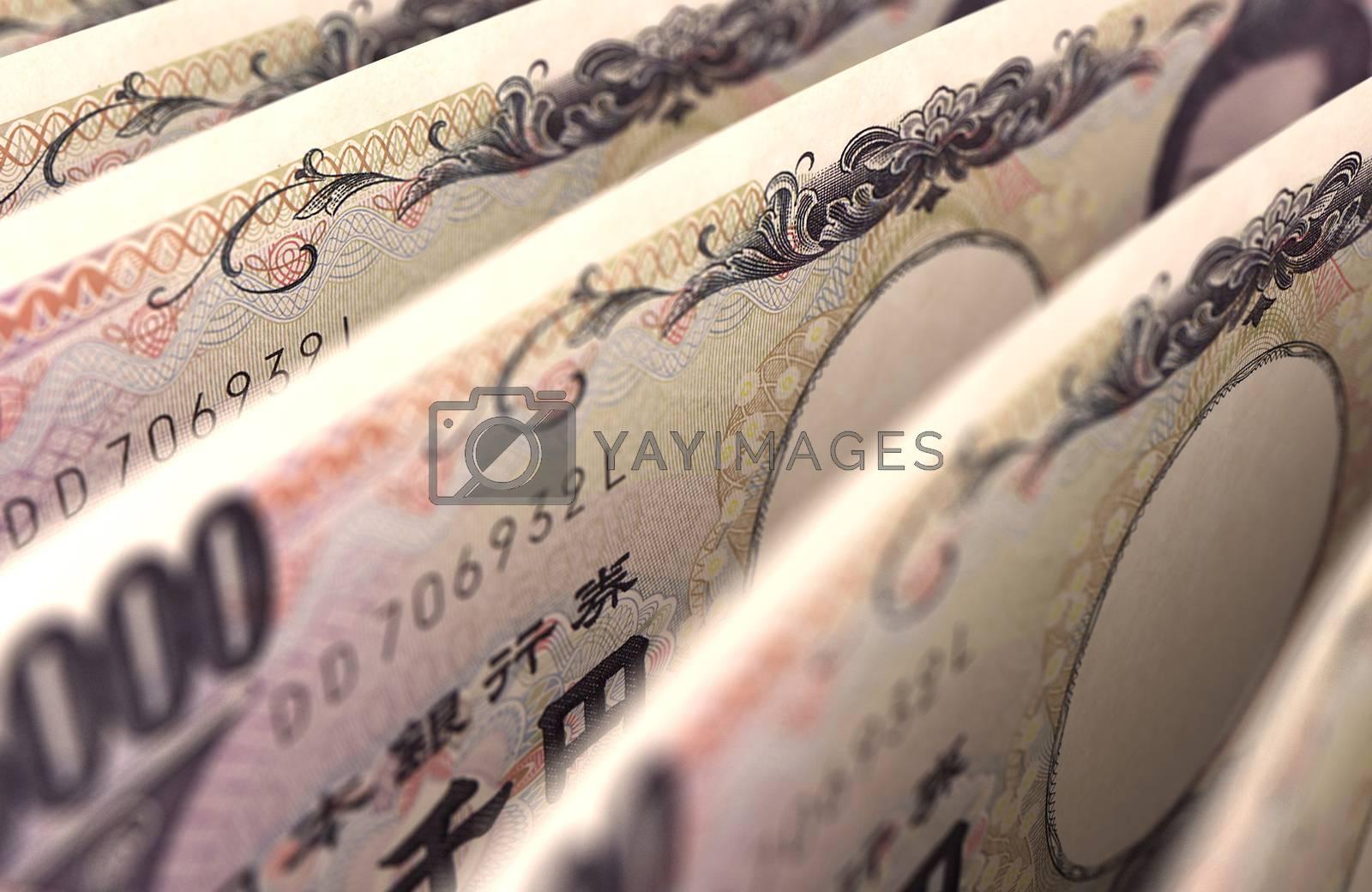 Royalty free image of Japanese Yen Dollar Closeup by selensergen