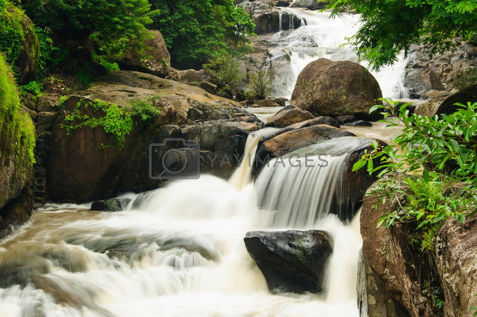 Royalty free image of Waterfall at sarika by Sorapop