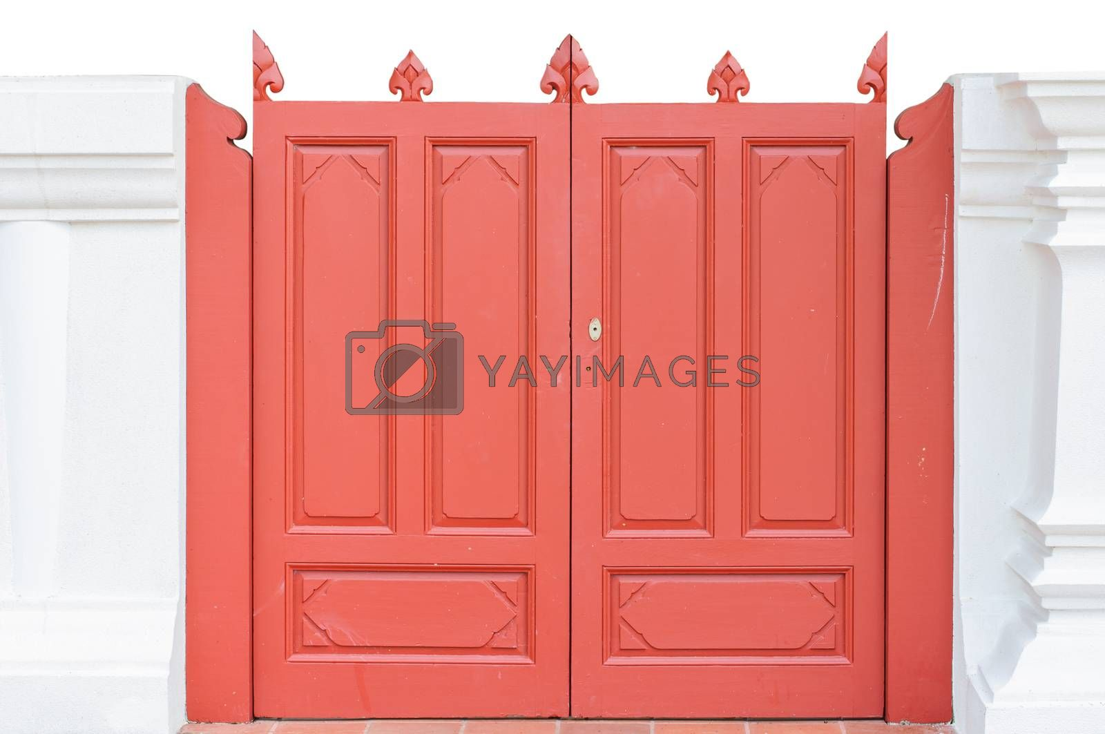 Royalty free image of Red the door by Sorapop