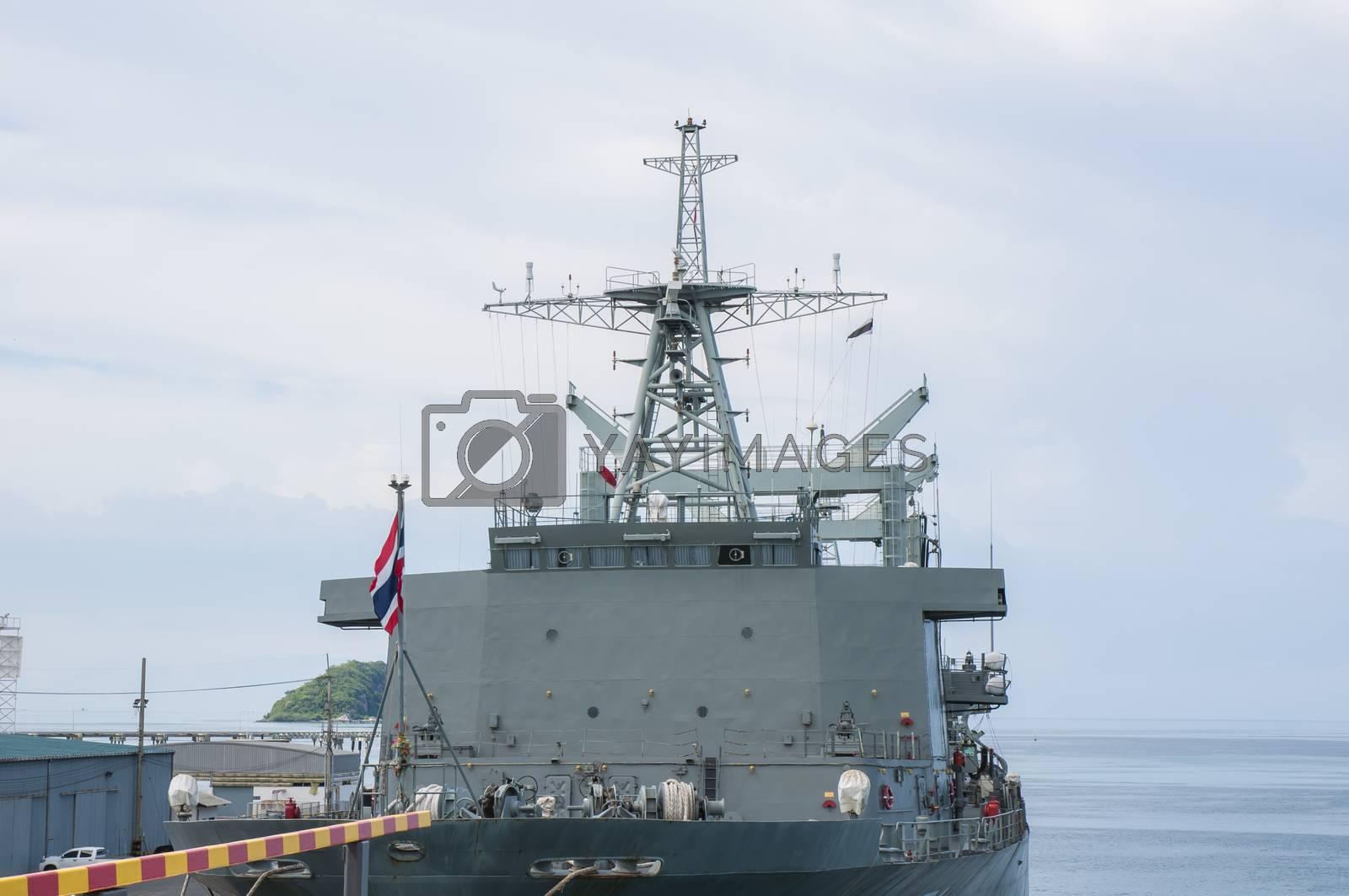 Royalty free image of Battleship Port by Sorapop
