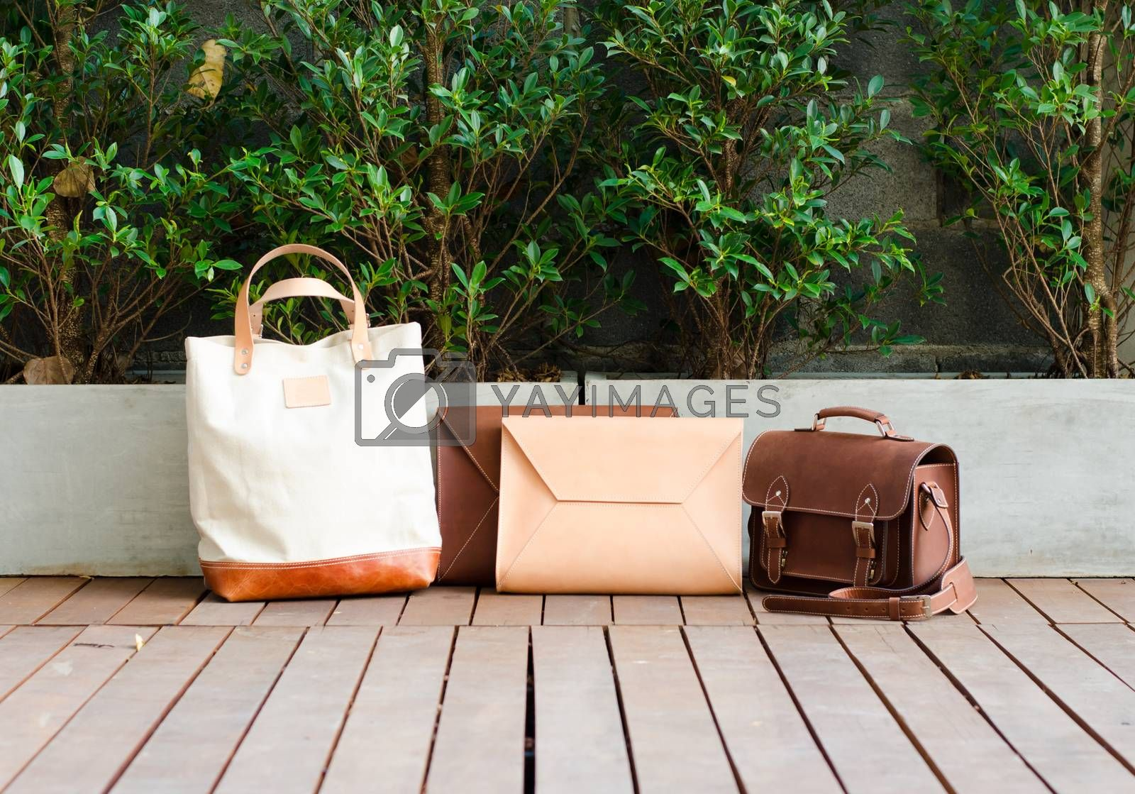Royalty free image of Fashion Leather Bags Collection by siraanamwong