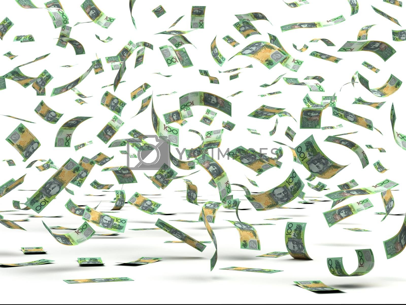 Royalty free image of Flying Australian Dollars by selensergen