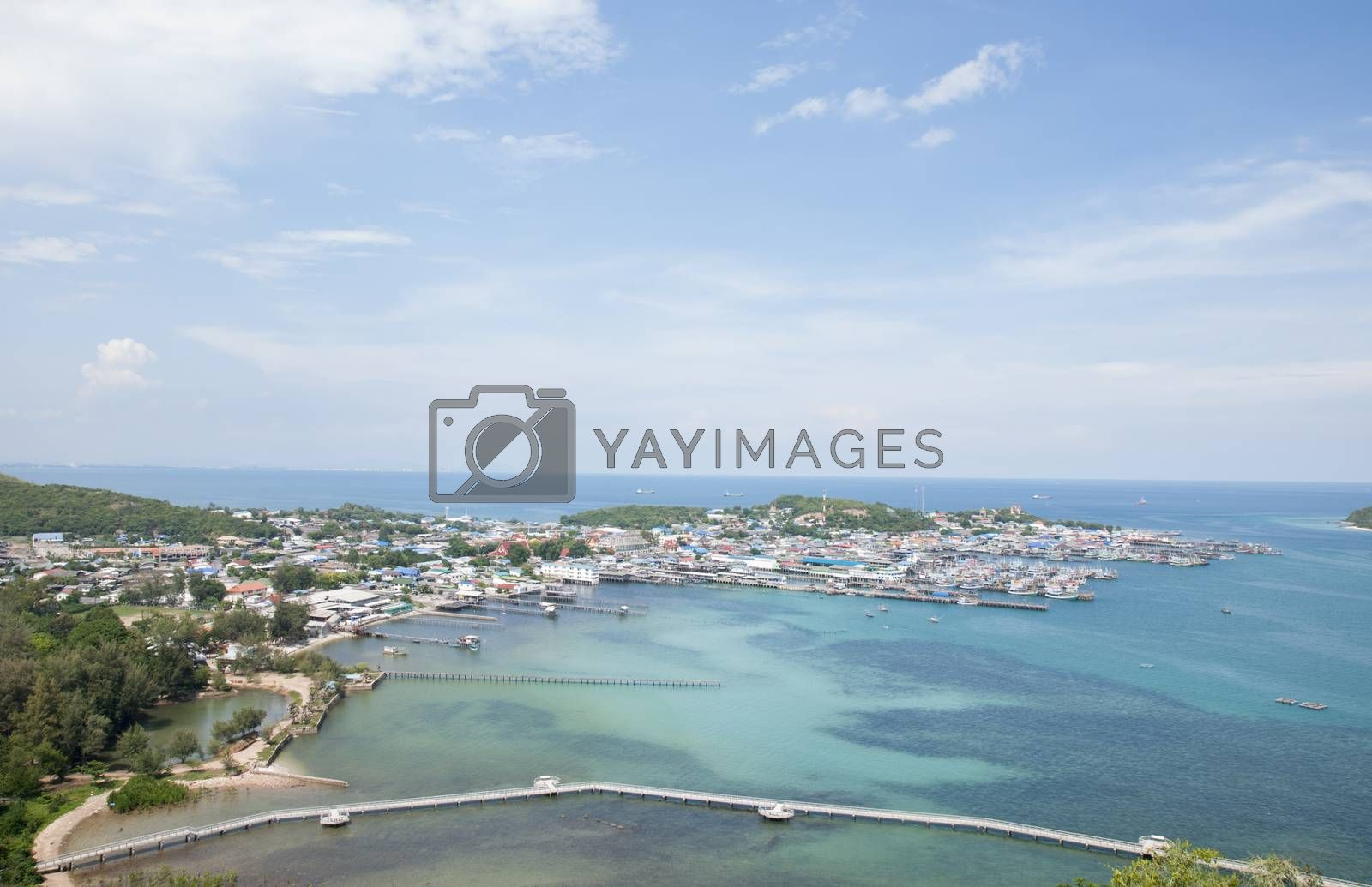 Royalty free image of Fishing village by Sorapop