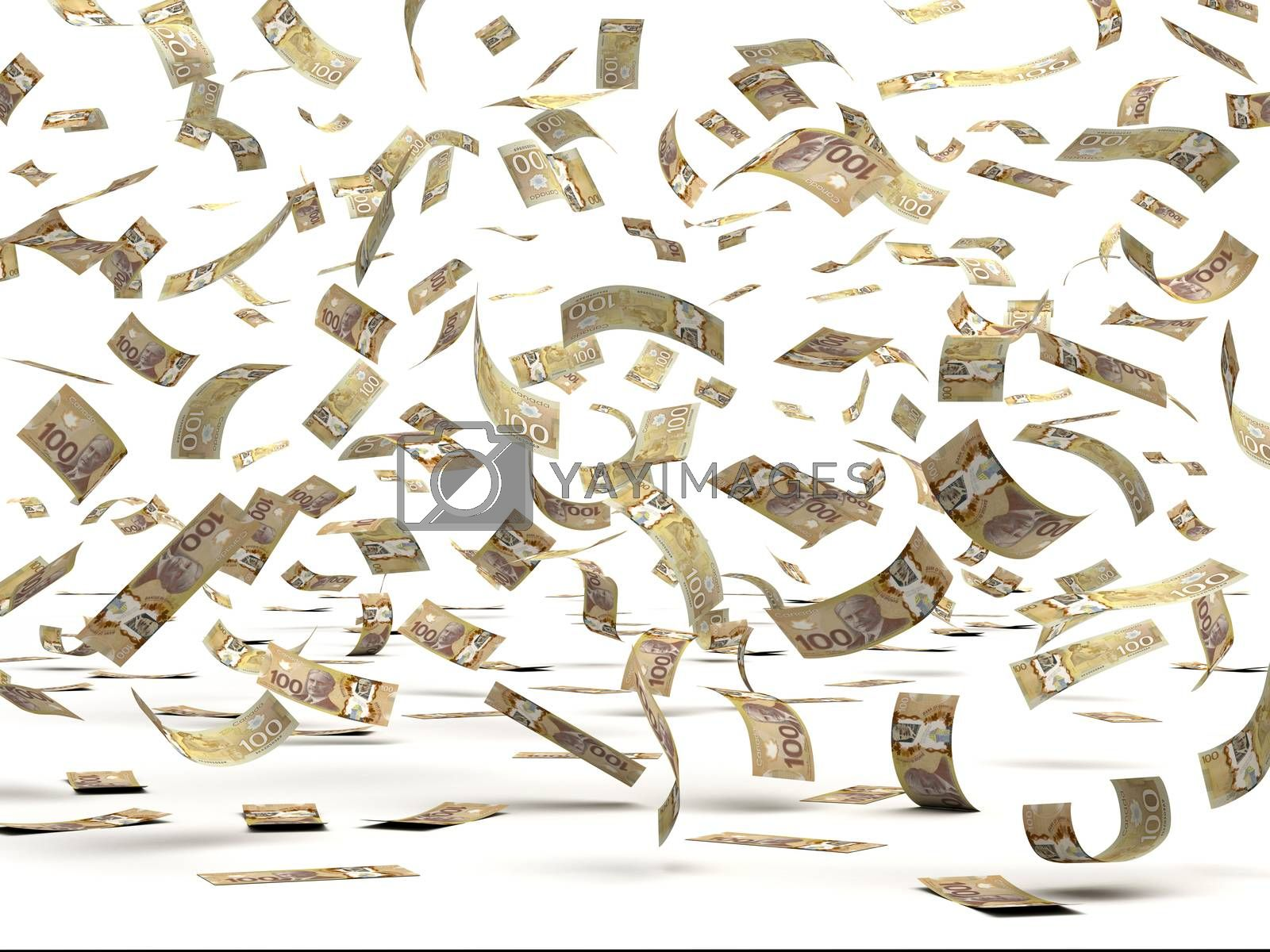 Royalty free image of Flying Canadian Dollars by selensergen