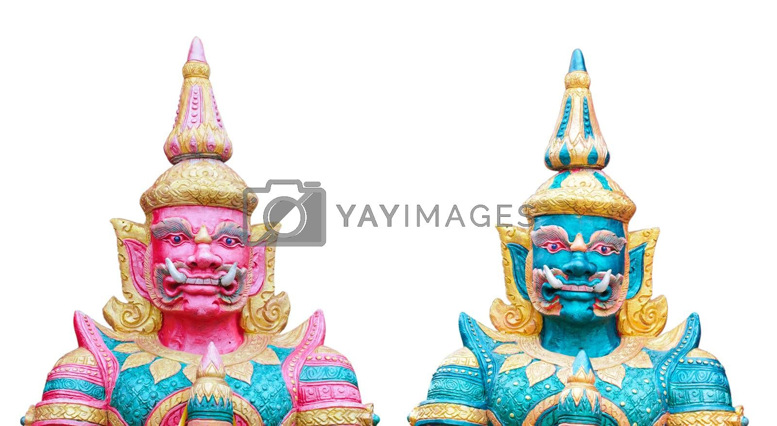 Royalty free image of Twin giant statue by Sorapop