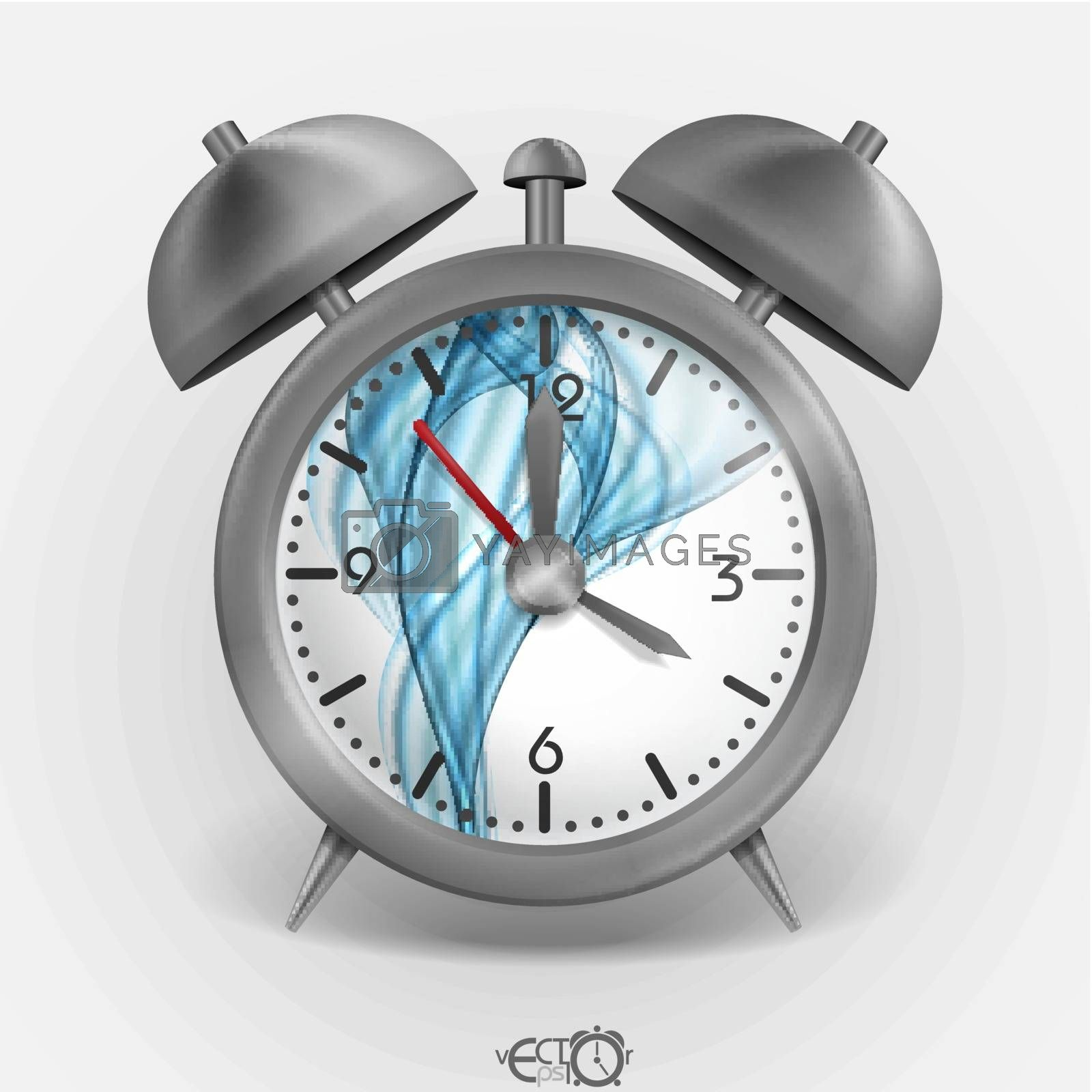 Royalty free image of Metal Classic Style Alarm Clock. by HelenStock