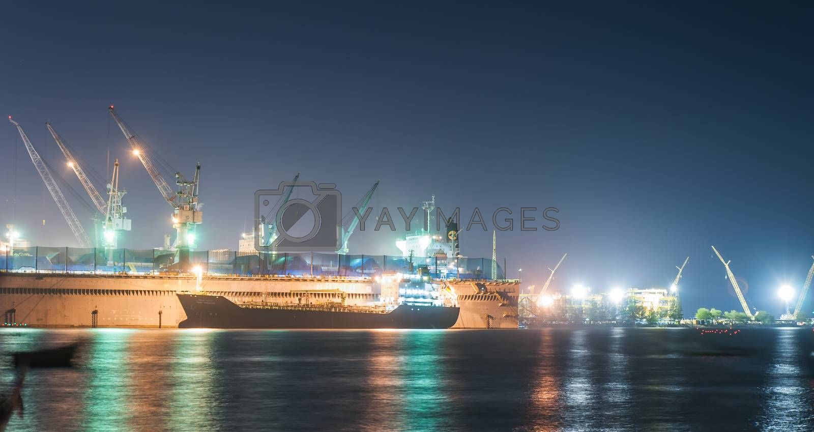 Royalty free image of Port of chonburi, container terminals by Sorapop
