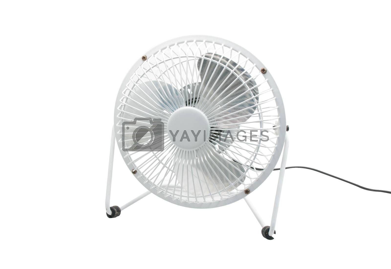 Royalty free image of Compact table top electric fan by Sorapop
