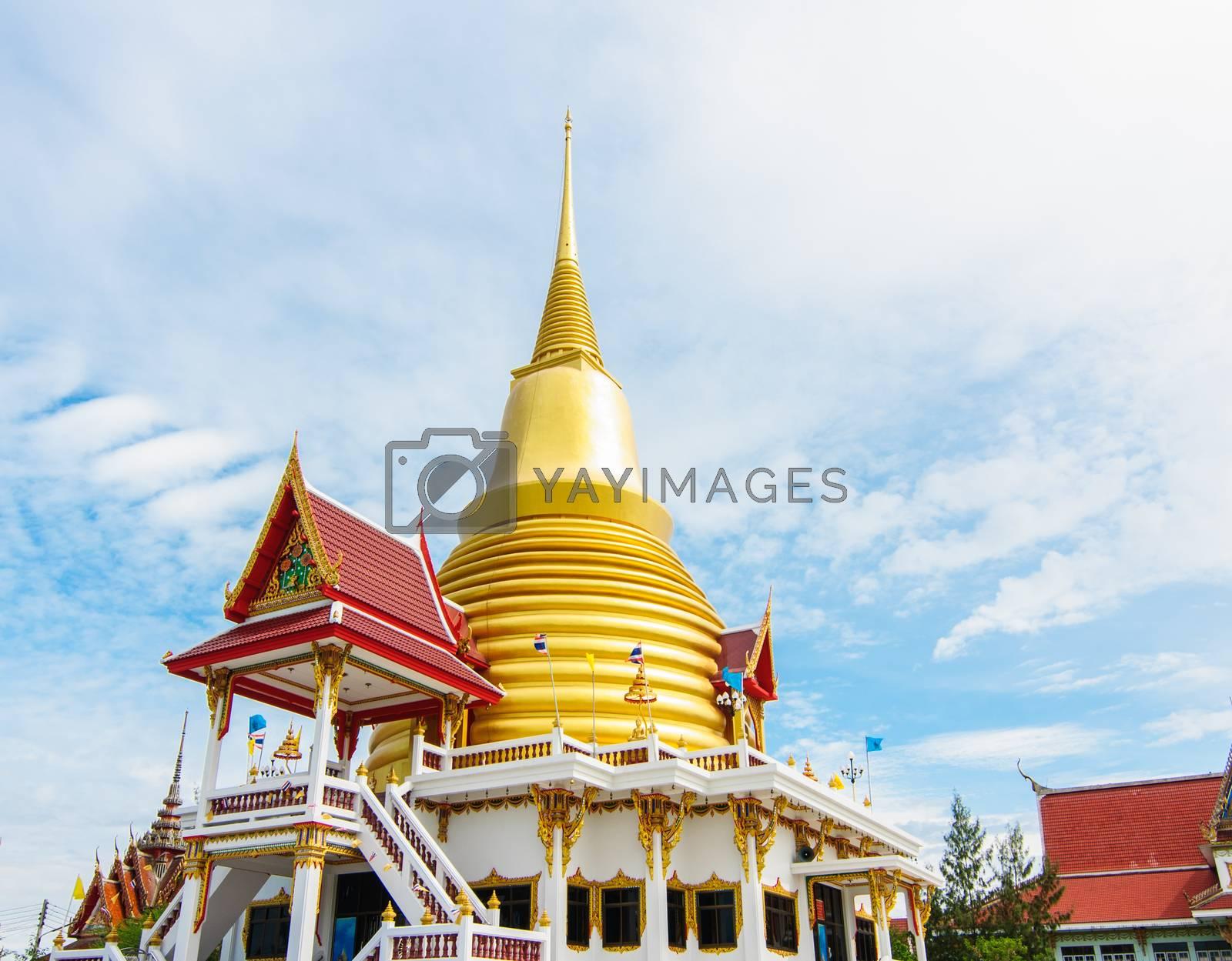 Royalty free image of Wat golden stupa or jedi by Sorapop