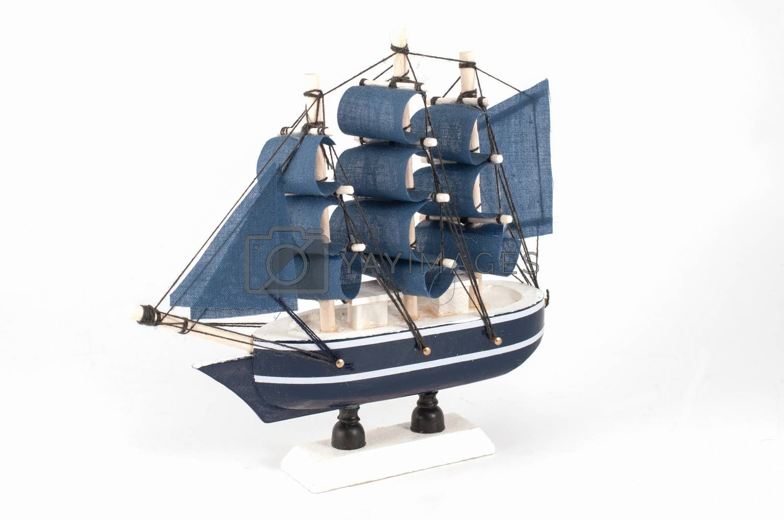 Royalty free image of Ship model isolated by Sorapop