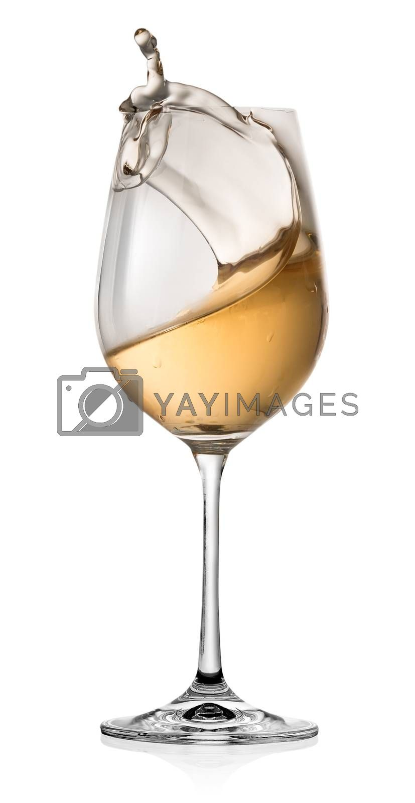 Royalty free image of Moving of alcohol in a glass by Givaga