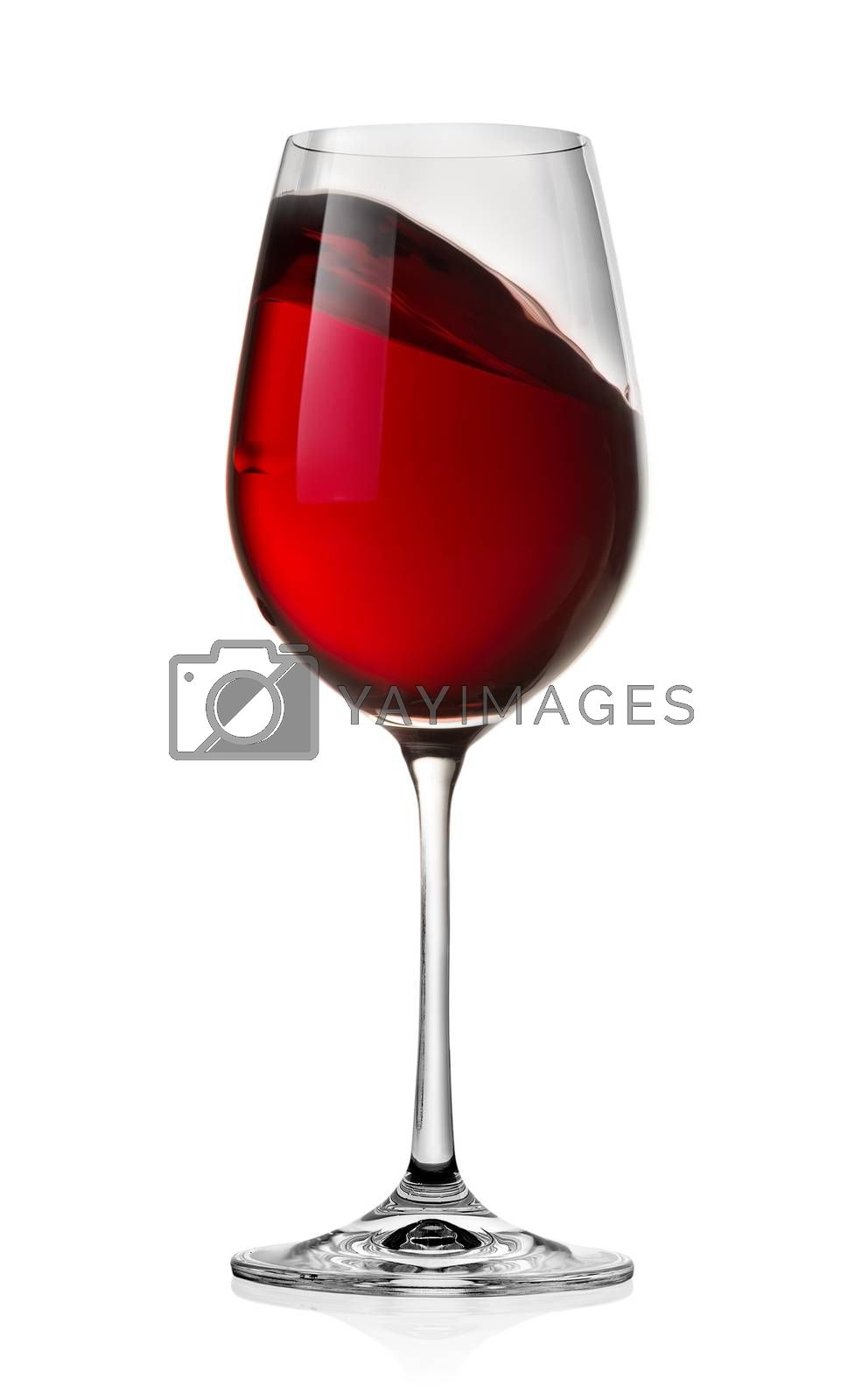 Royalty free image of Waving red wine by Givaga