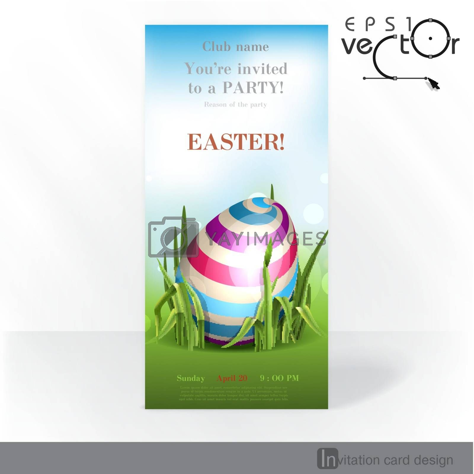 Royalty free image of Easter Background With Eggs In Grass. by HelenStock