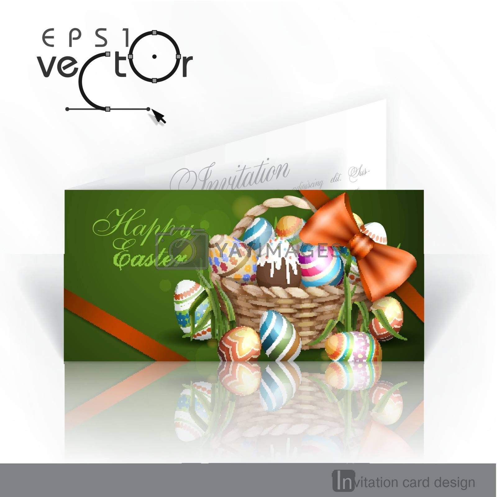 Royalty free image of Easter Background With A Basket by HelenStock