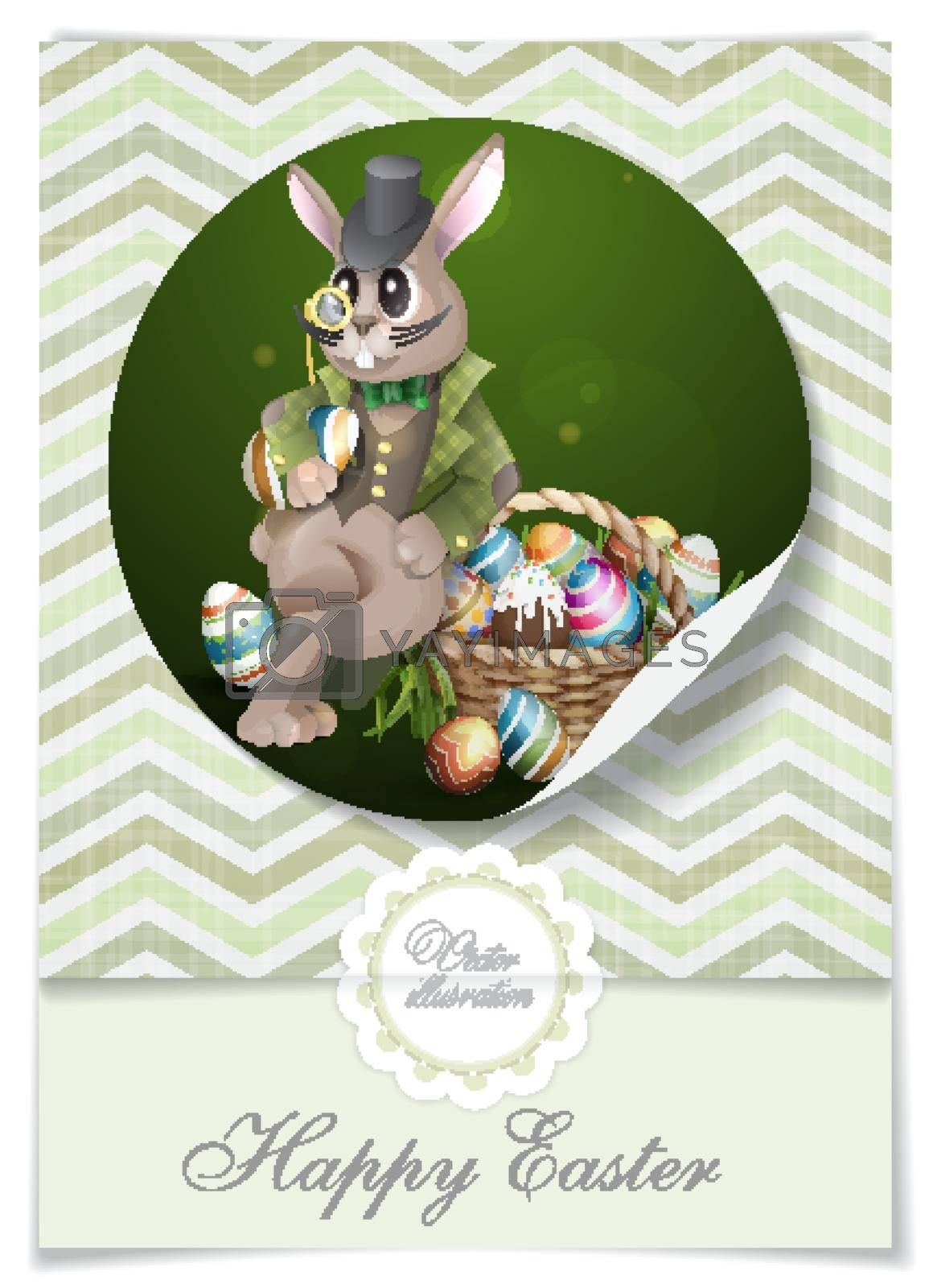 Royalty free image of The Easter Bunny With A Basket by HelenStock