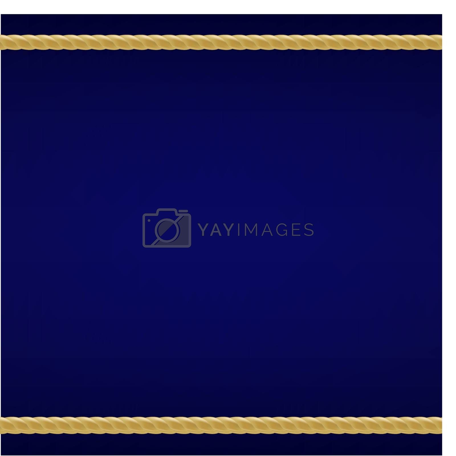 Royalty free image of Blue Background With Rope by cammep