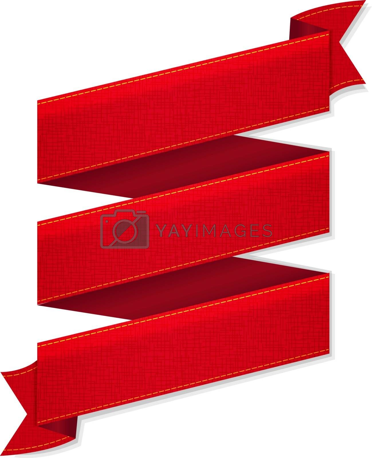 Royalty free image of Red Ribbon Banner by cammep
