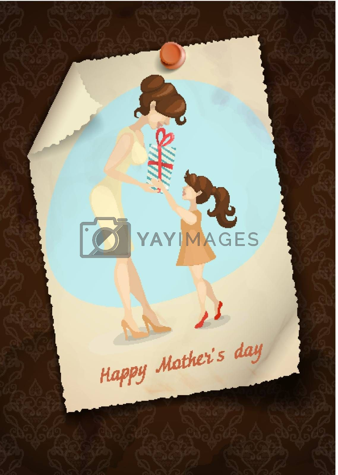 Royalty free image of Little Daughter Gives Mom A Gift For Mother's Day by HelenStock