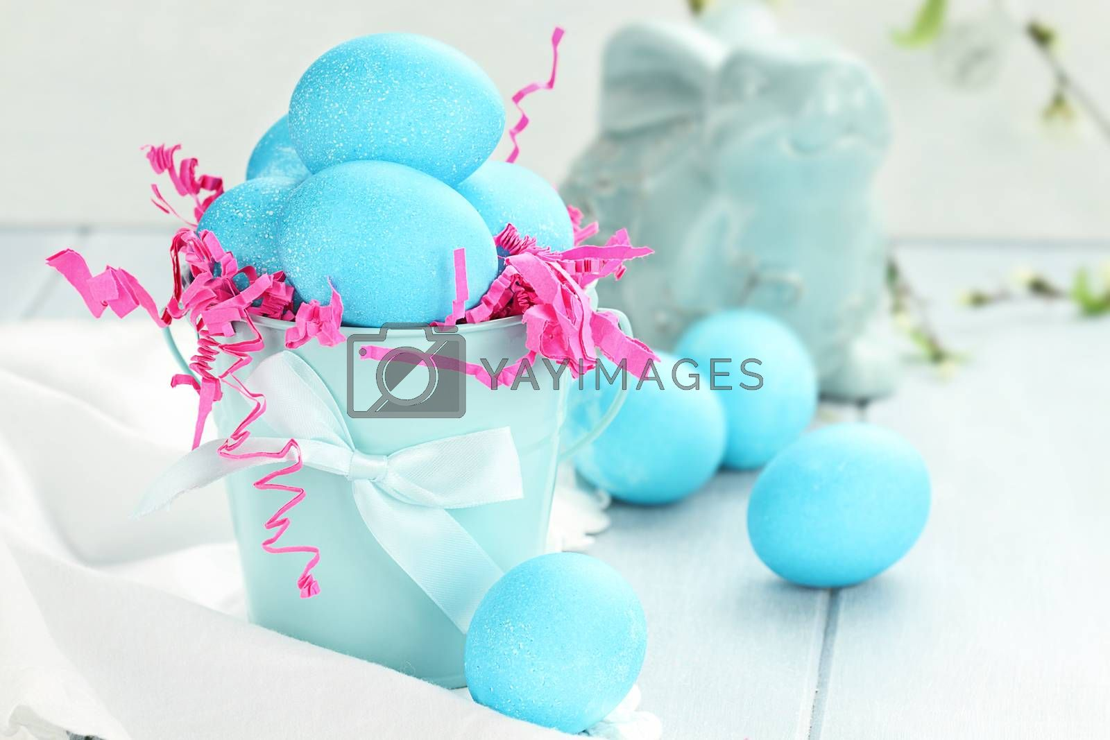 Royalty free image of Blue Speckled Easter Eggs by StephanieFrey