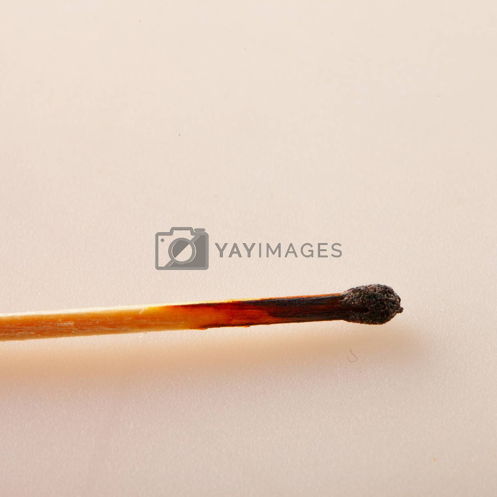 Royalty free image of Burnt match by Koufax73