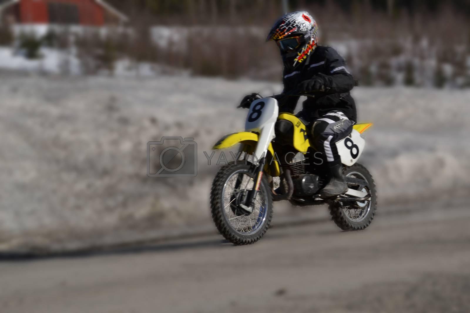 Royalty free image of Motocross by marit_hammerstroem