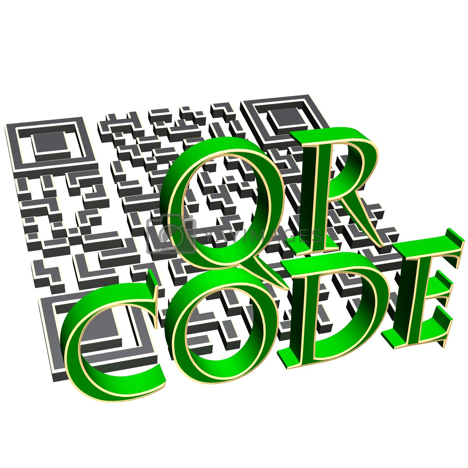 Royalty free image of QR code concept by richter1910