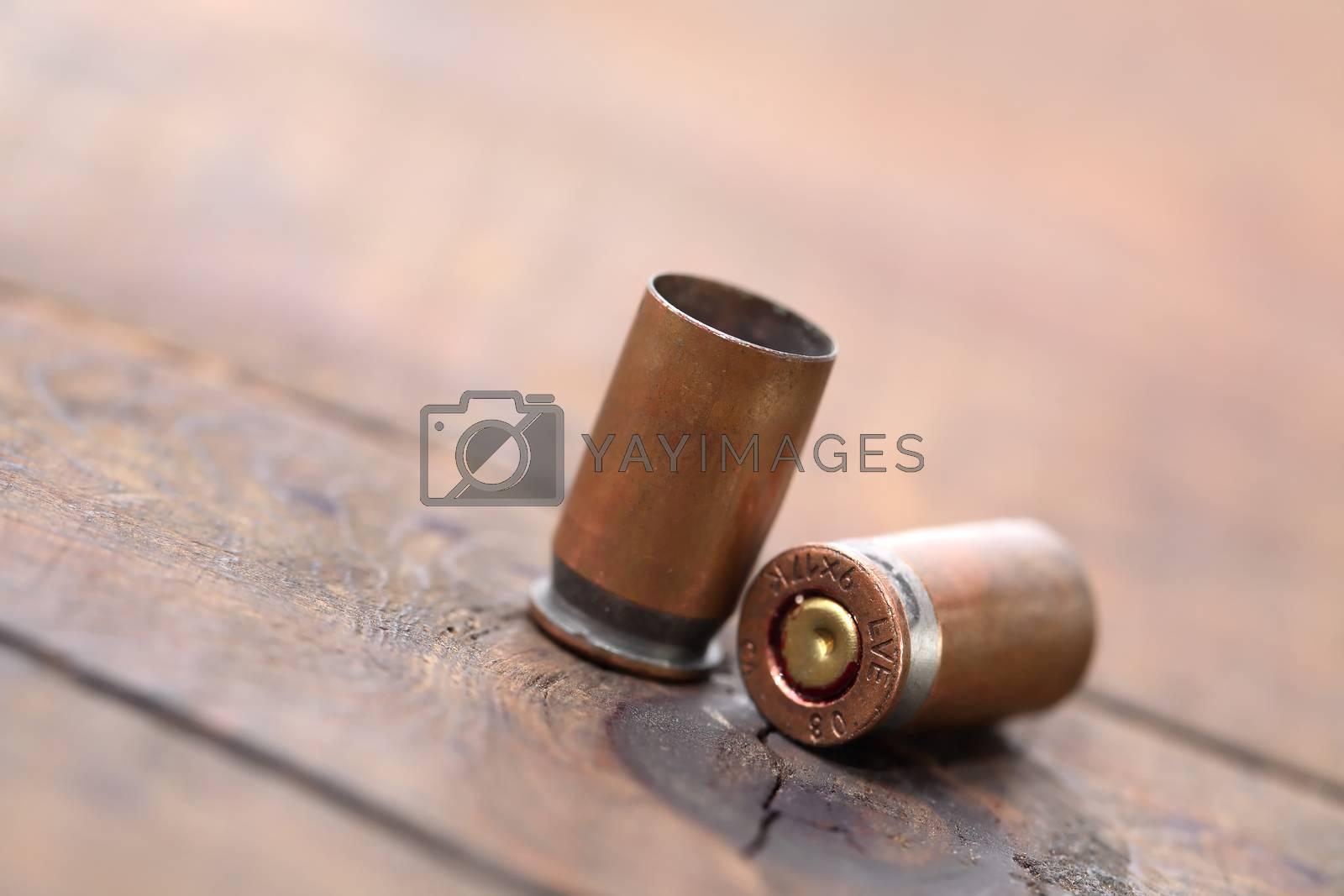 Royalty free image of Pistol Cartridges by kvkirillov