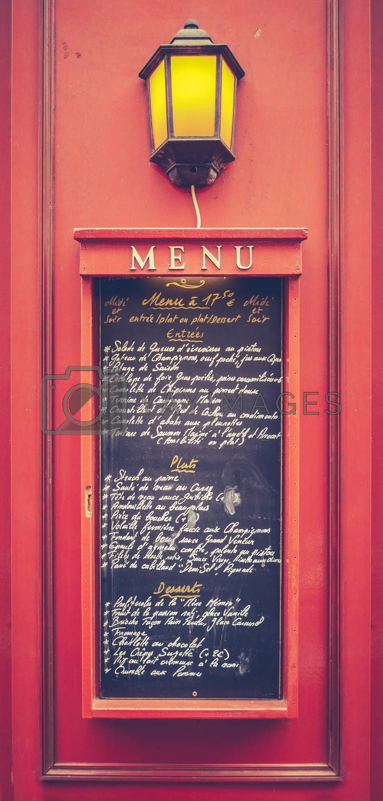 Royalty free image of Retro Paris Restaurant Menu by mrdoomits