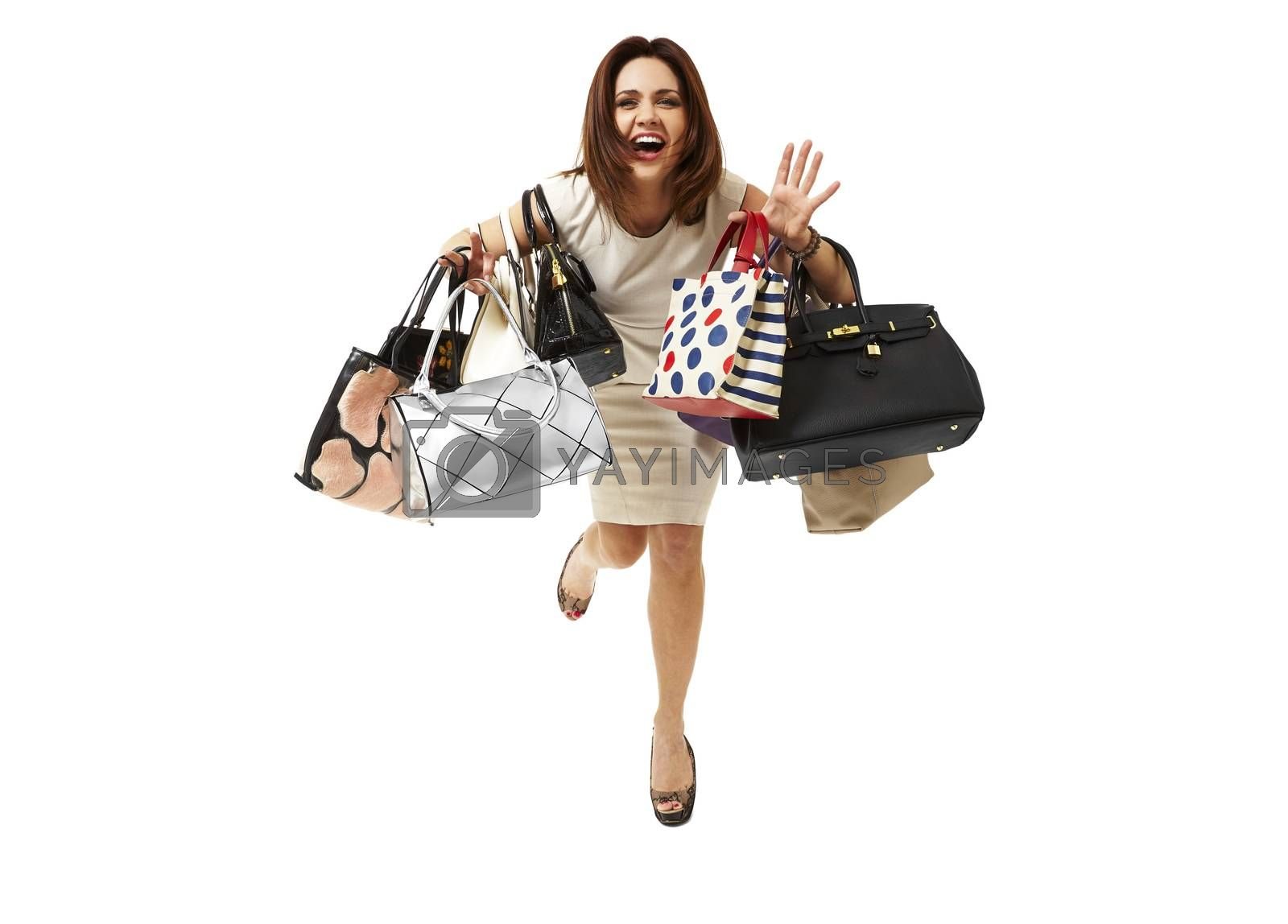 Royalty free image of Smiling girl on shopping by filipw