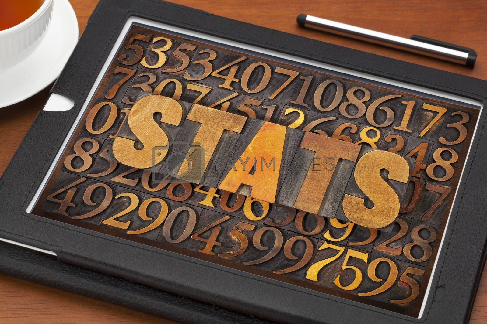 Royalty free image of stats (statistics) word  and numbers by PixelsAway