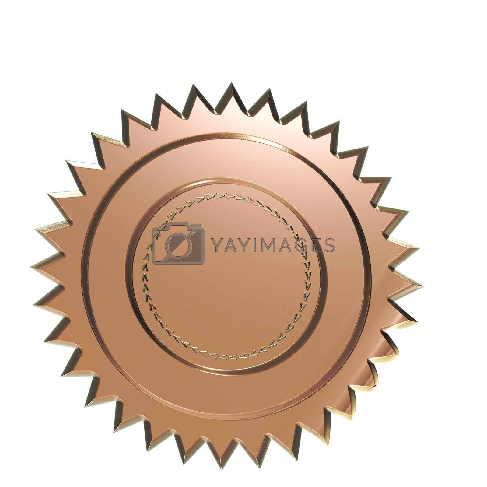 Royalty free image of Blank badge. by richter1910