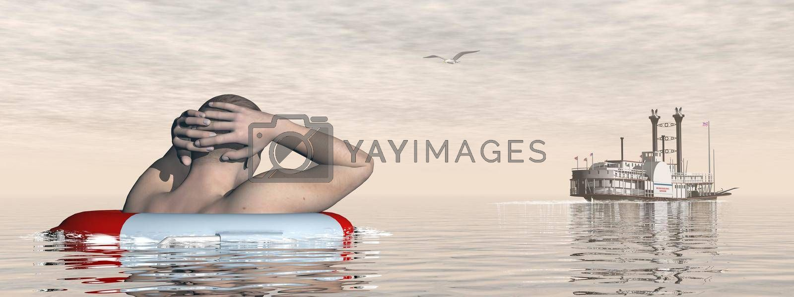 Royalty free image of Man abandoned - 3D render by Elenaphotos21