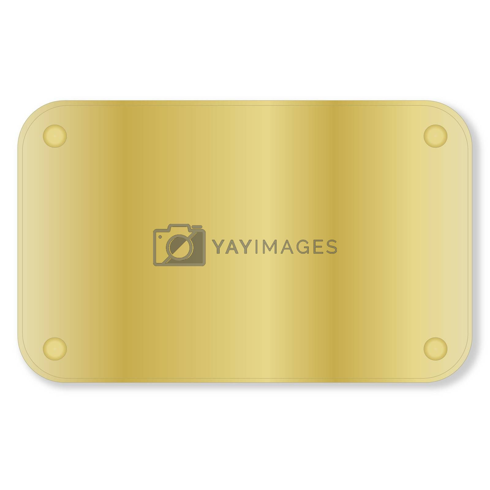 Royalty free image of Golden plate by Elenaphotos21