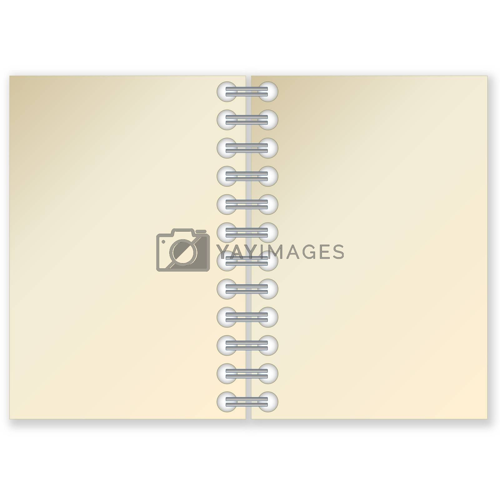 Royalty free image of Open notebook by Elenaphotos21