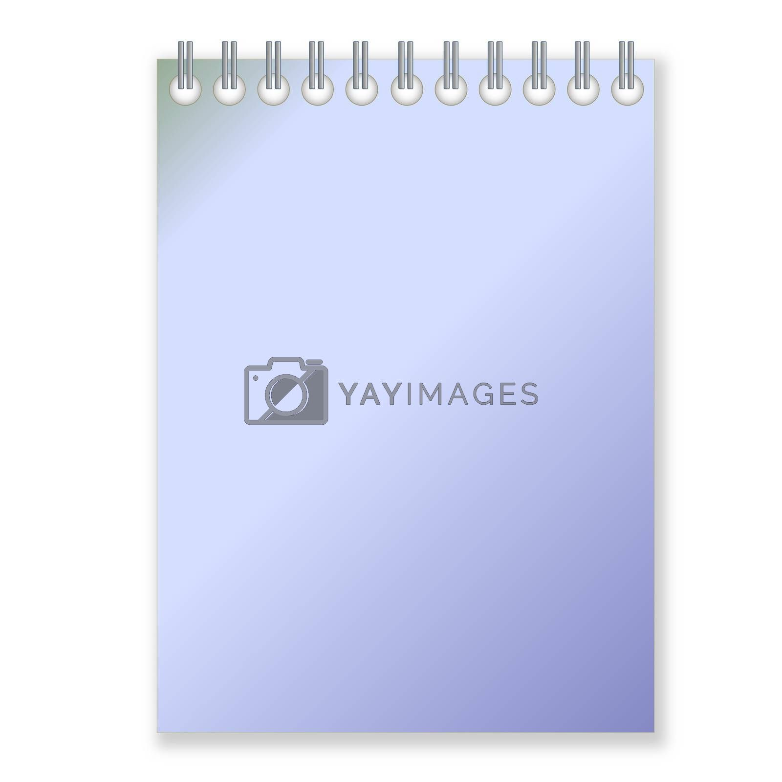 Royalty free image of Blue notebook by Elenaphotos21