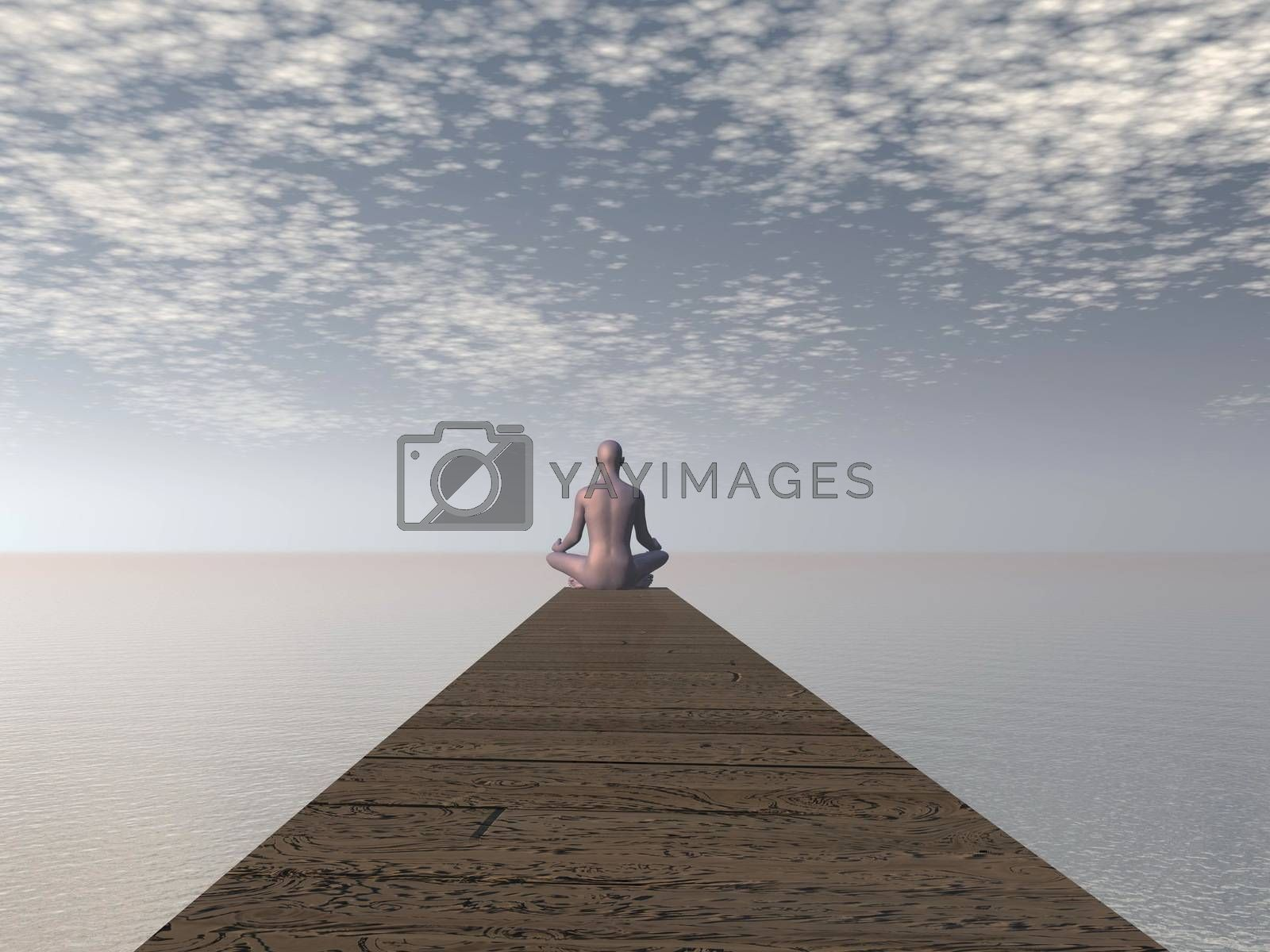 Royalty free image of Meditation - 3D render by Elenaphotos21