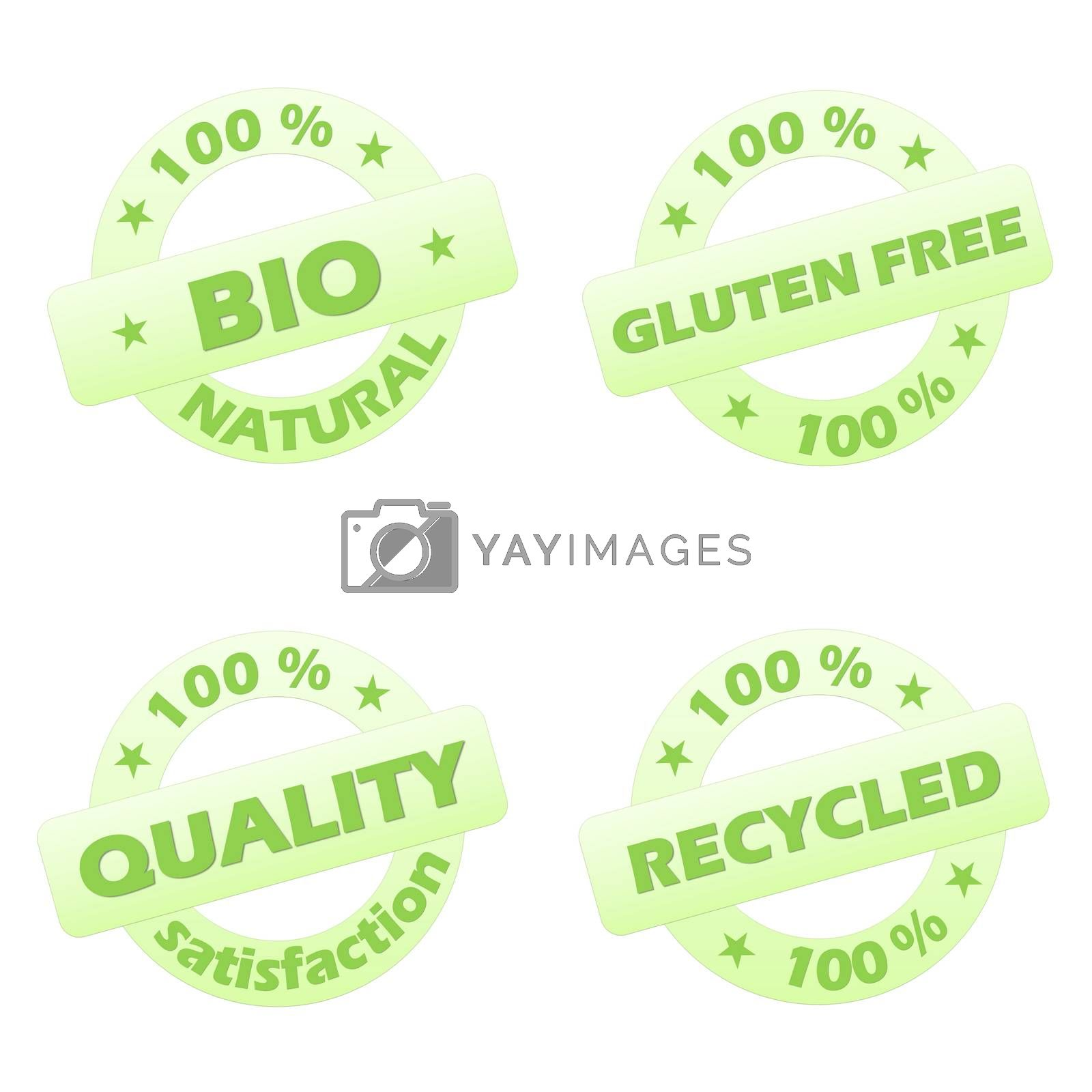Royalty free image of Set of ecological stamps by Elenaphotos21