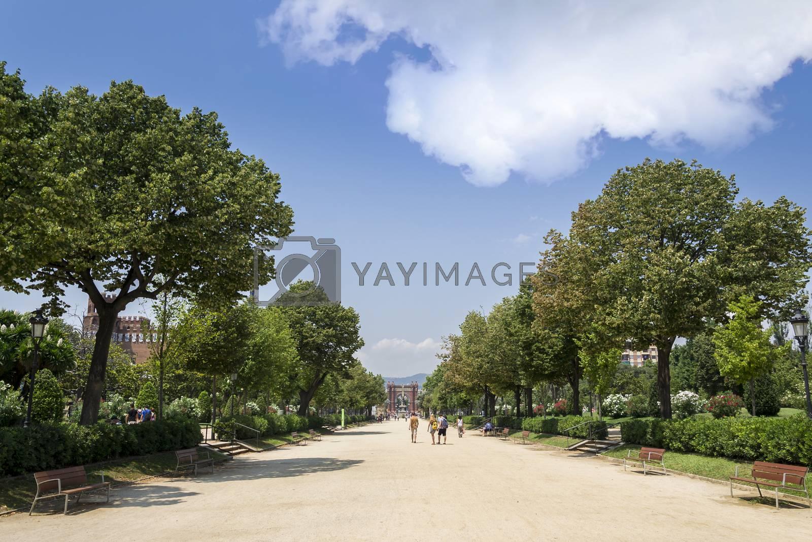Royalty free image of Park de la Ciutadela in Barcelona Spain by enrico.lapponi