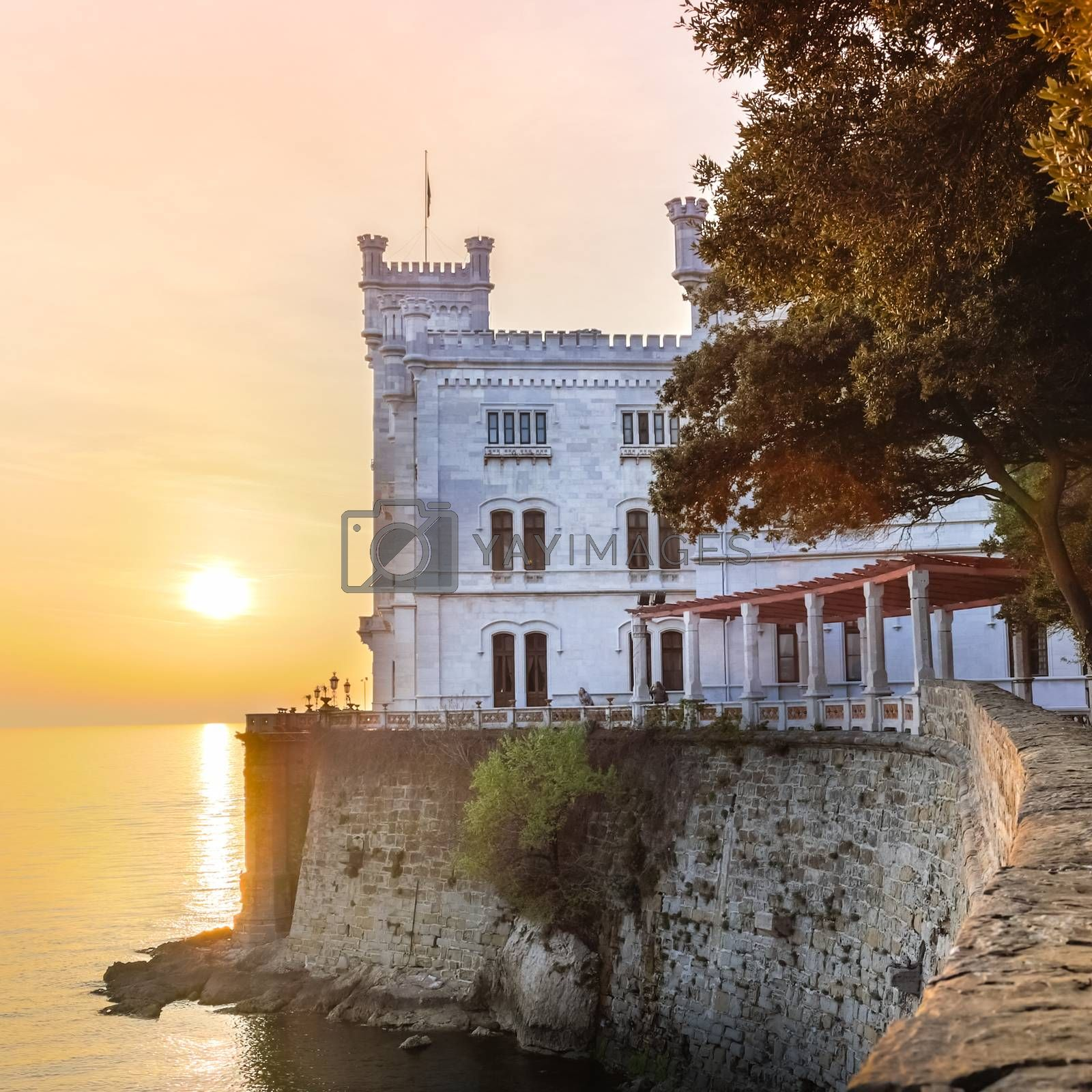 Royalty free image of Miramare Castle, Trieste, Italy, Europe. by kasto
