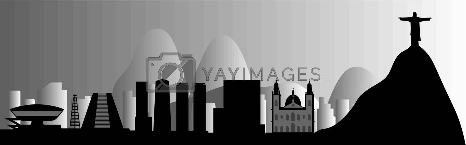 Royalty free image of vector Rio de Janeiro skyline by Mibuch