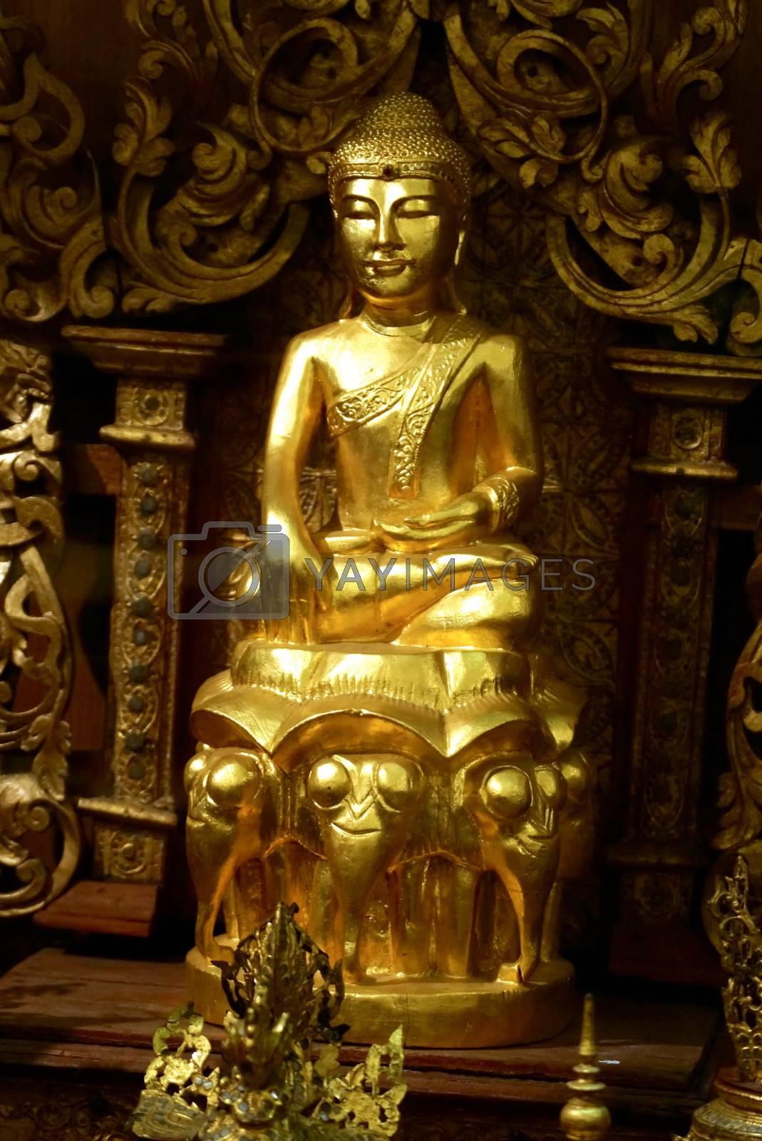 Royalty free image of golden buddha by nattapatt