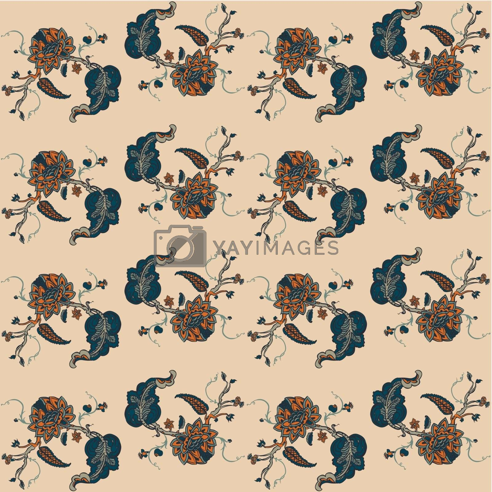Royalty free image of Elegance Seamless pattern with flowers ornament by OlgaBerlet