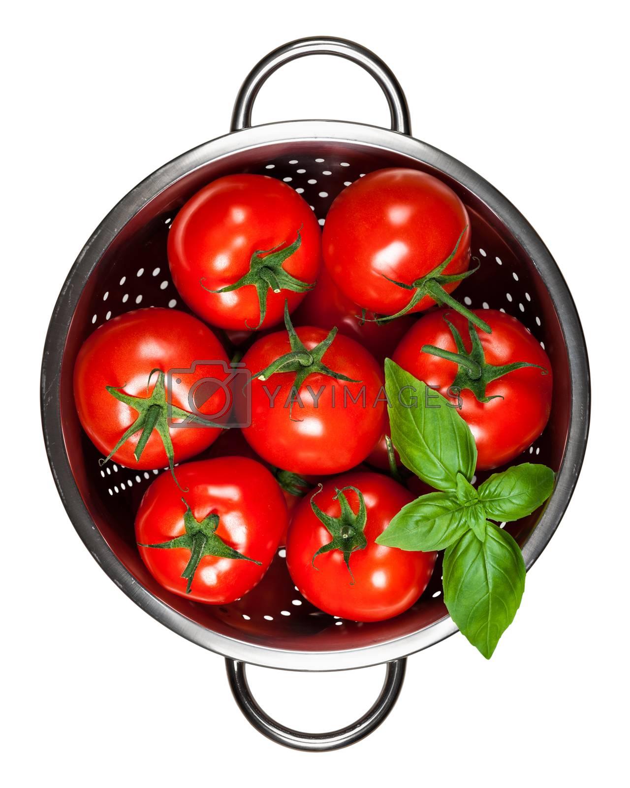 Royalty free image of Tomatoes With Basil by bozena_fulawka